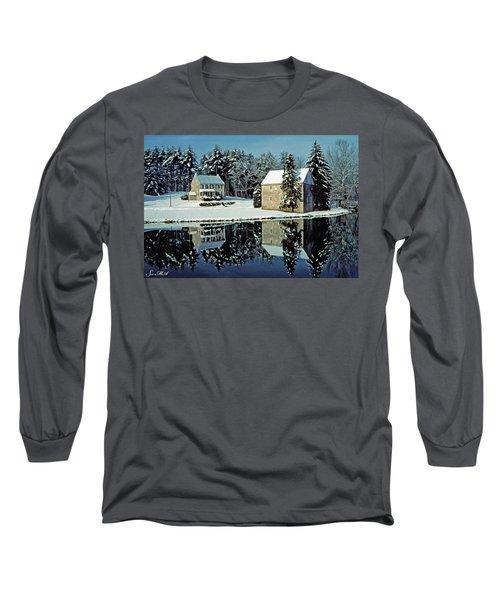 Grings Mill Snow 001 Long Sleeve T-Shirt