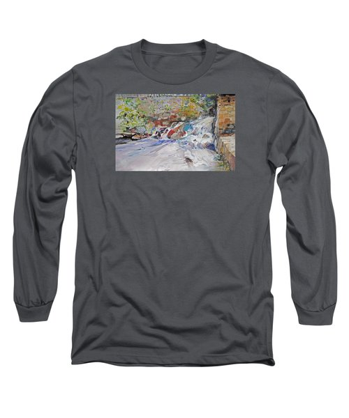 Grist Mill Spill Way Long Sleeve T-Shirt by P Anthony Visco
