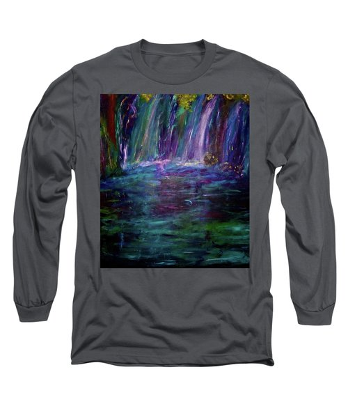 Long Sleeve T-Shirt featuring the painting Grotto by Heidi Scott