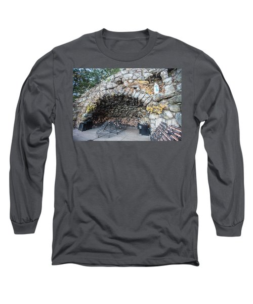 Grotto Of Our Lady Of Lourdes 2 Long Sleeve T-Shirt