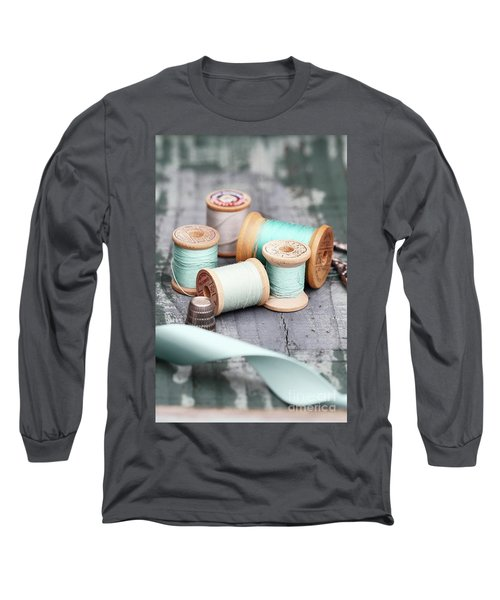 Group Of Vintage Sewing Notions Long Sleeve T-Shirt