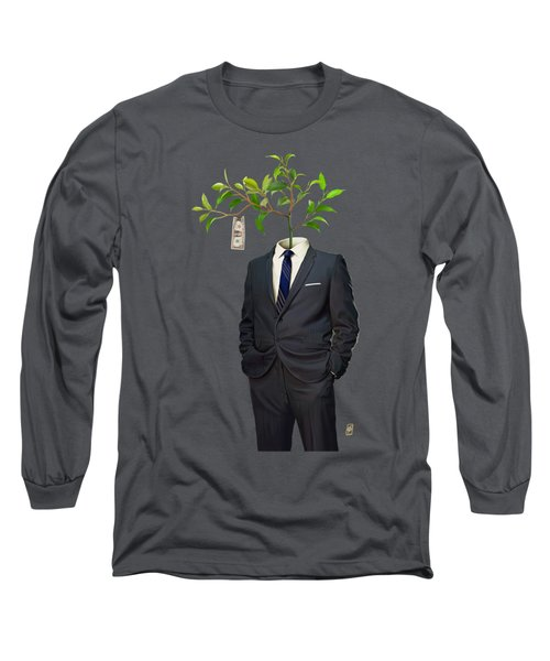 Long Sleeve T-Shirt featuring the drawing Growth by Rob Snow