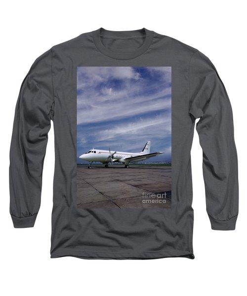 Grumman G-159 Gulfstream Patiently Waits, N719g Long Sleeve T-Shirt