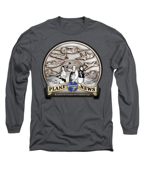 Grumman Plane News Long Sleeve T-Shirt