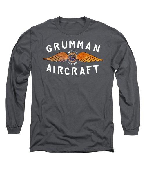 Grumman Wings Gold Long Sleeve T-Shirt