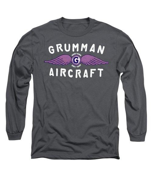 Grumman Wings Violet Long Sleeve T-Shirt