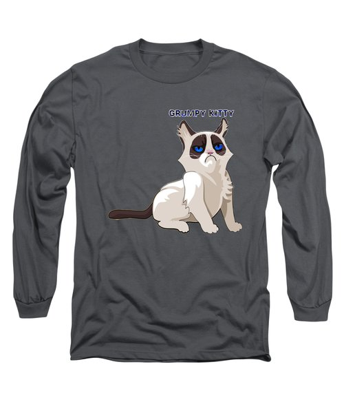 Grumpy Cat Long Sleeve T-Shirt by EricaMaxine  Price