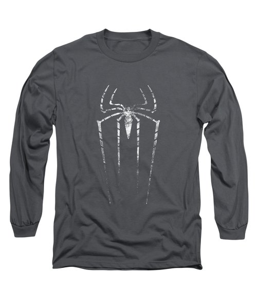 Grunge Silhouette Of Spider. Long Sleeve T-Shirt