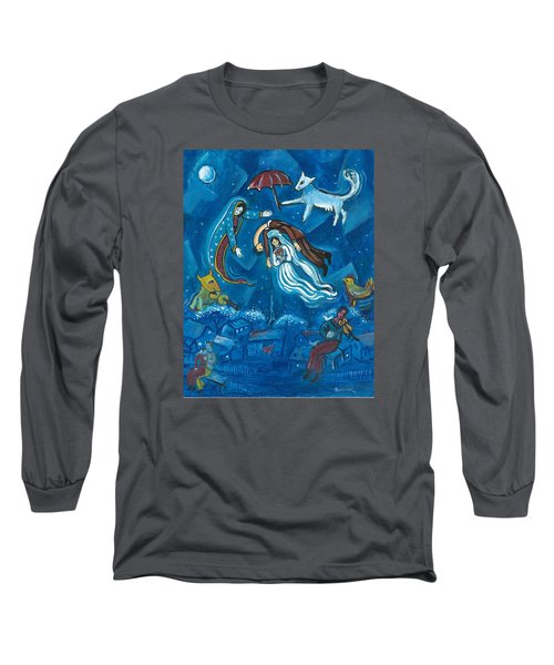 Guadalupe Visits Chagall Long Sleeve T-Shirt
