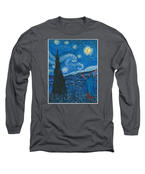 Guadalupe Visits Van Gogh Long Sleeve T-Shirt