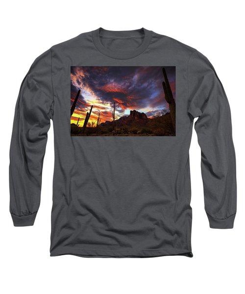 Guardians Of The Mountain Long Sleeve T-Shirt by Rick Furmanek