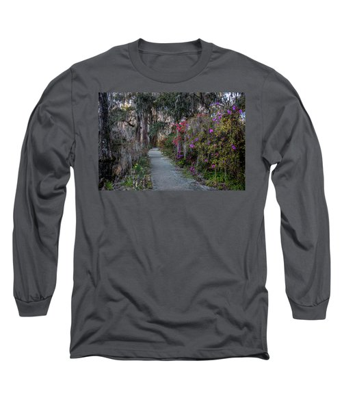 Guide Our Feet Into The Path Of Peace. Luke 1.79  Long Sleeve T-Shirt