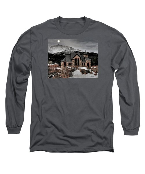 Guiding Light Over Saint Malo Long Sleeve T-Shirt by Stephen  Johnson