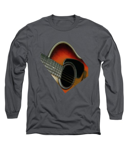 Long Sleeve T-Shirt featuring the photograph  Guitar  Acoustic Close Up by Bruce Stanfield