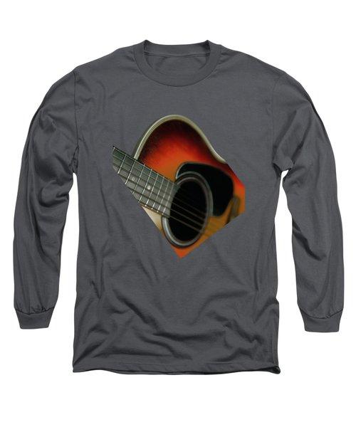 Guitar  Acoustic Close Up Long Sleeve T-Shirt