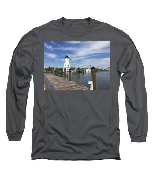 Long Sleeve T-Shirt featuring the photograph Gulf Port by Andrea Love