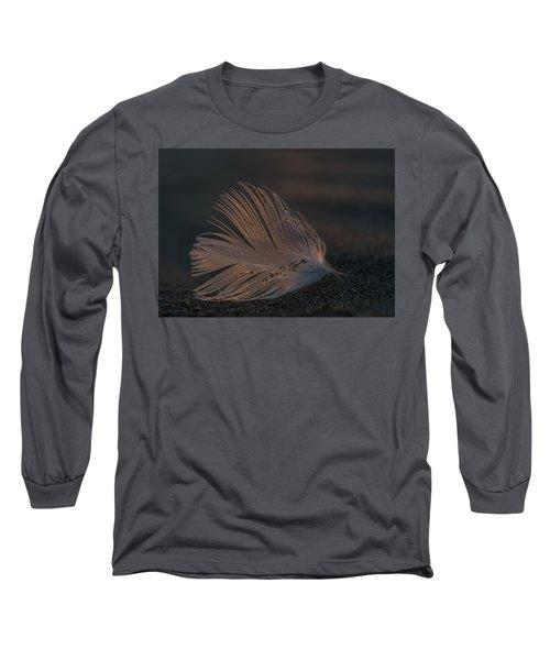 Gull Feather On A Beach Long Sleeve T-Shirt