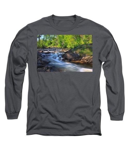 Gull River Falls - Gunflint Trail Minnesota Long Sleeve T-Shirt