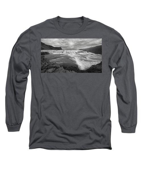 Long Sleeve T-Shirt featuring the photograph Gullfoss Waterfall No. 1 by Joe Bonita