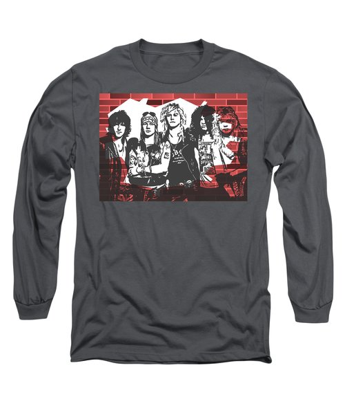 Guns N Roses Graffiti Tribute Long Sleeve T-Shirt