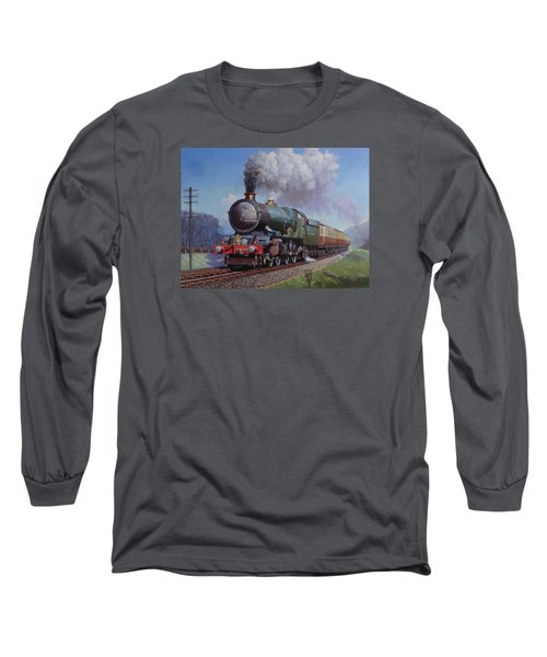 Gwr King On Dainton Bank. Long Sleeve T-Shirt by Mike  Jeffries