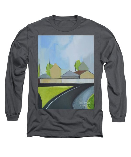 Hackensack Exit Long Sleeve T-Shirt by Ron Erickson