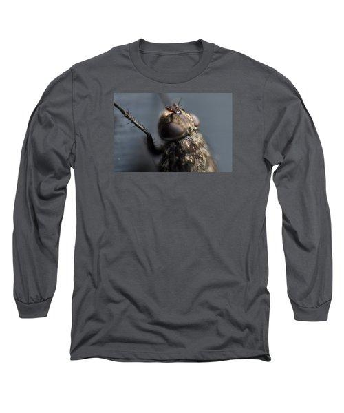 Long Sleeve T-Shirt featuring the photograph Hair On A Fly by Glenn Gordon
