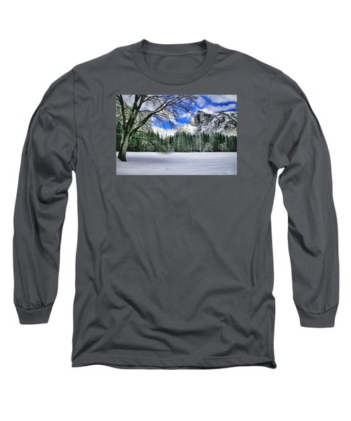 Half Dome In The Snow Long Sleeve T-Shirt