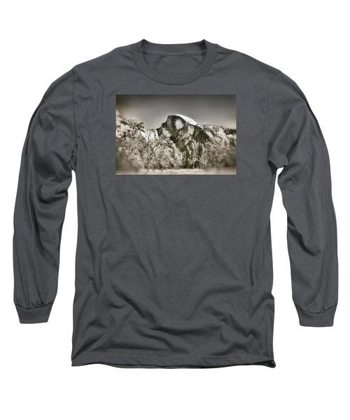 Half Dome Yosemite Long Sleeve T-Shirt by James Bethanis