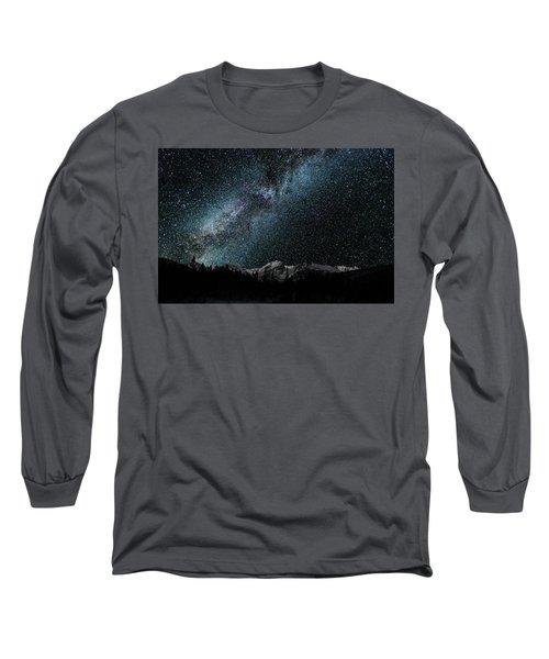 Hallet Peak - Milky Way Long Sleeve T-Shirt