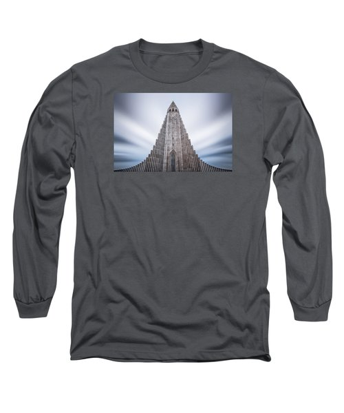 Hallgrimskirkja Cathedral Long Sleeve T-Shirt by Brad Grove