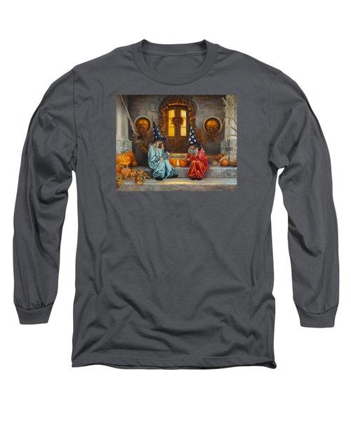 Halloween Sweetness Long Sleeve T-Shirt by Greg Olsen