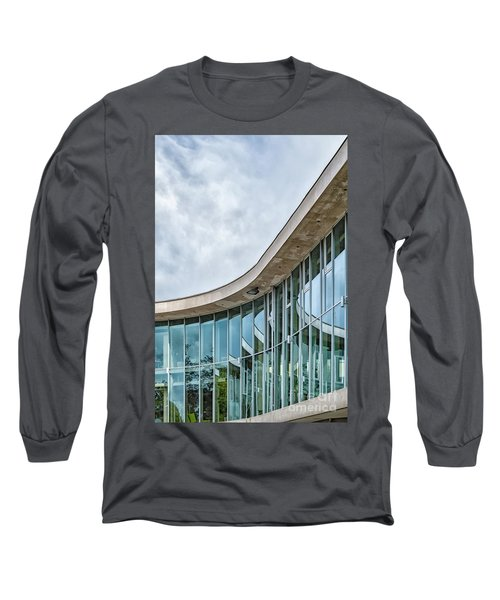 Long Sleeve T-Shirt featuring the photograph Halmstad University Labrary Detail by Antony McAulay