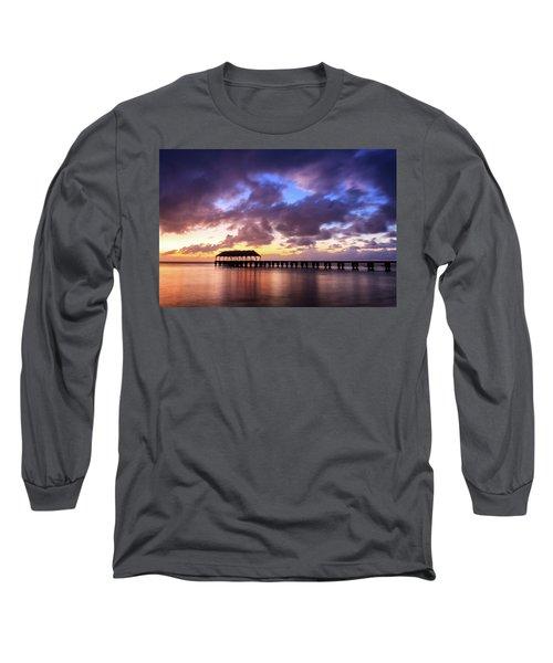 Hanalei Pier Long Sleeve T-Shirt by James Eddy