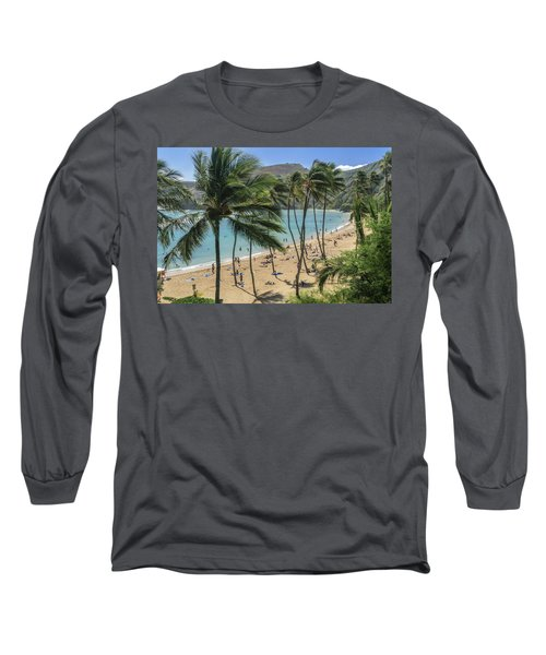 Long Sleeve T-Shirt featuring the photograph Hanauma Bay by Steven Sparks