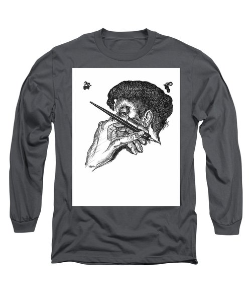 Hand And Pen Long Sleeve T-Shirt