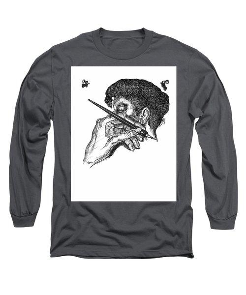 Hand And Pen Long Sleeve T-Shirt