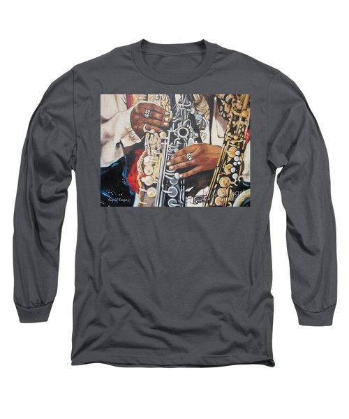 Blaa Kattproduksjoner        Hands Of Music - 2 Long Sleeve T-Shirt