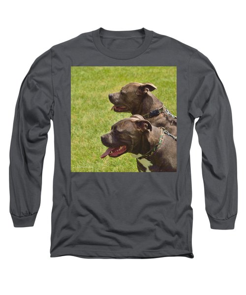 Handsome Pit Bulls Long Sleeve T-Shirt