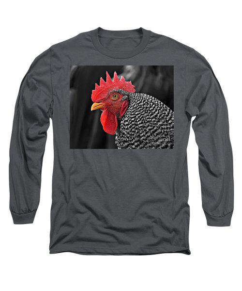 Handsome Plymouth Rock Rooster Long Sleeve T-Shirt