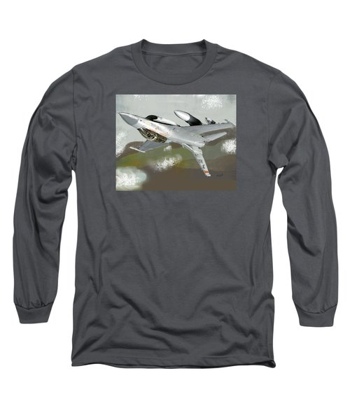 Long Sleeve T-Shirt featuring the digital art Hanging In The Seat by Walter Chamberlain