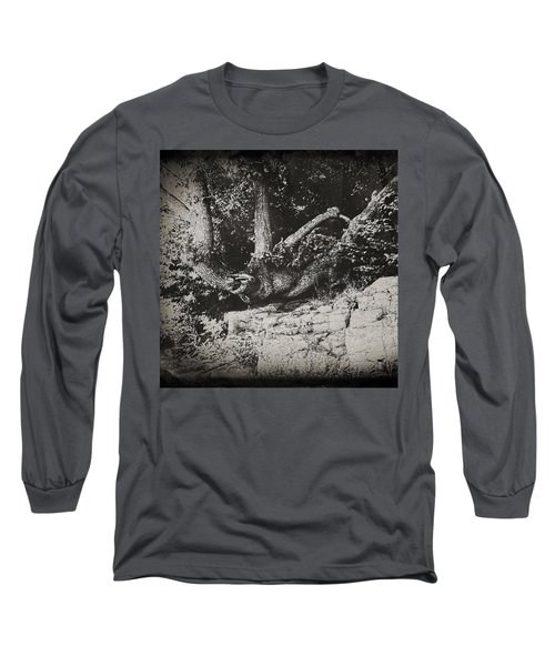 Hanging On Long Sleeve T-Shirt by Keith Elliott