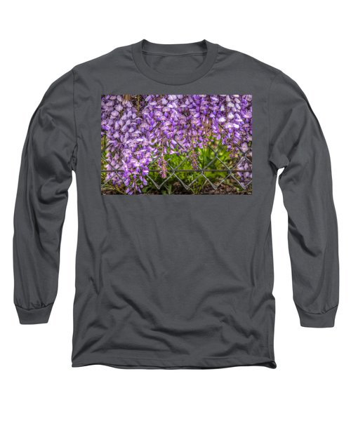 Hanging On The Fence, Wisteria Long Sleeve T-Shirt