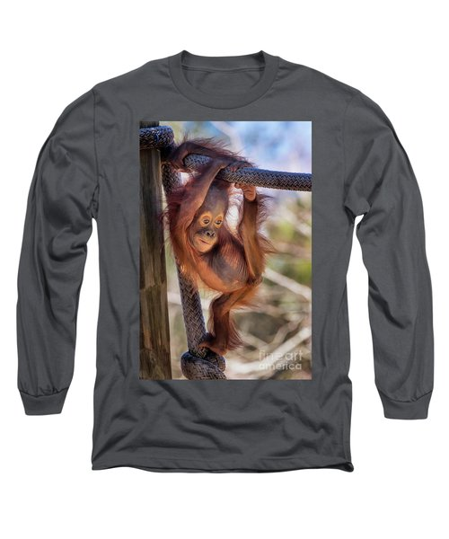 Hanging Out Long Sleeve T-Shirt by Stephanie Hayes