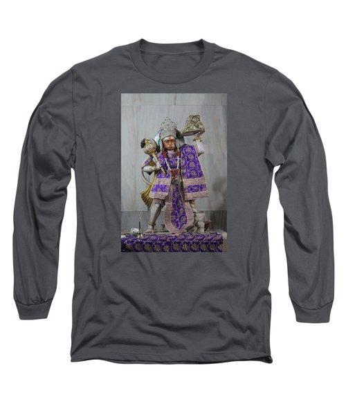 Hanuman Ji, Neem Karoli Baba, Vrindavan Long Sleeve T-Shirt