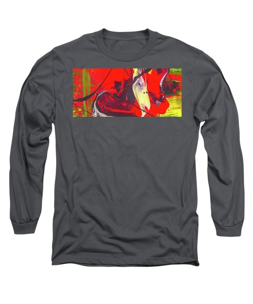 Happy Cow -  Cute Abstract Animals Art Long Sleeve T-Shirt by Modern Art Prints