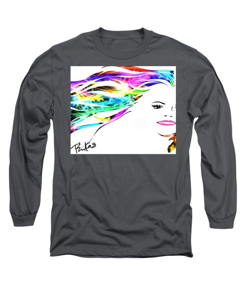 Long Sleeve T-Shirt featuring the digital art Happy by Diana Riukas