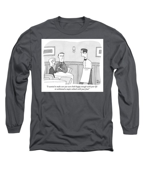 Happy Enough Long Sleeve T-Shirt