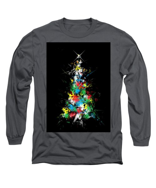 Happy Holidays - Abstract Tree - Vertical Long Sleeve T-Shirt