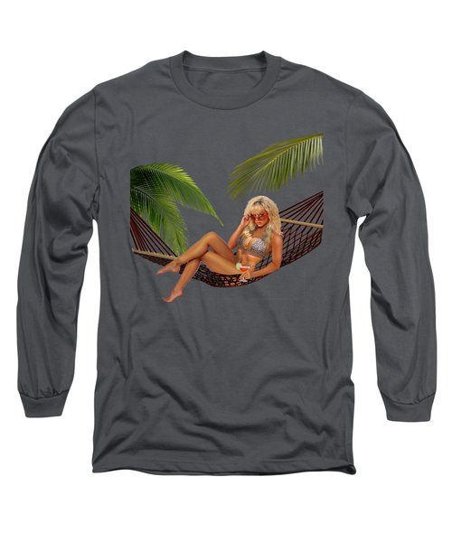 Happy Hour On The Beach Long Sleeve T-Shirt by Glenn Holbrook